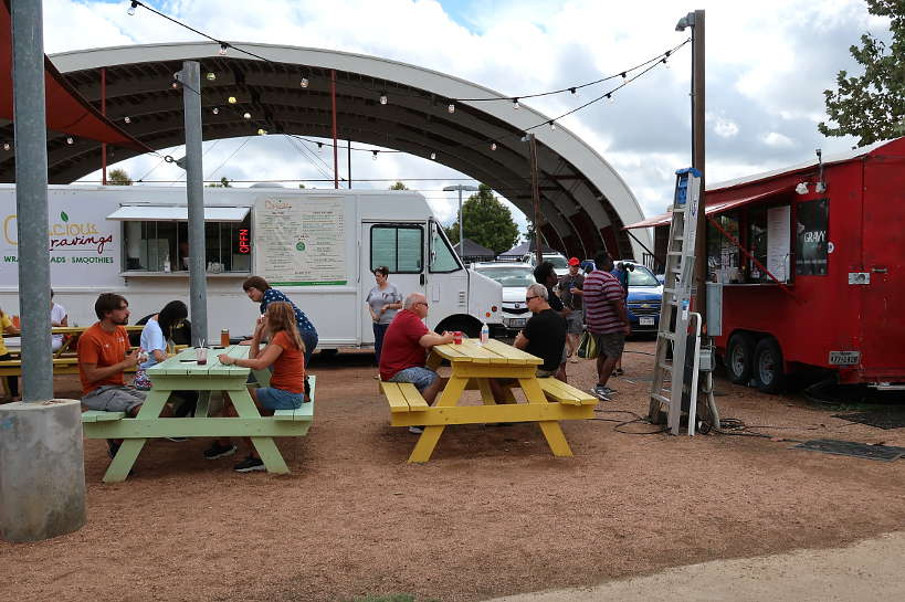 Mueller Trailer Eats one of Austin Food Truck Parks Authentic Food Quest