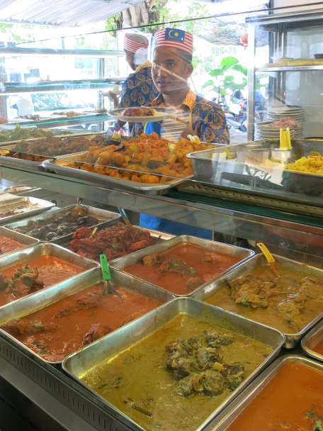 Buffet food in Malaysia use Travelan tot Prevent Travelers Diarrhea by Authentic Food Quest