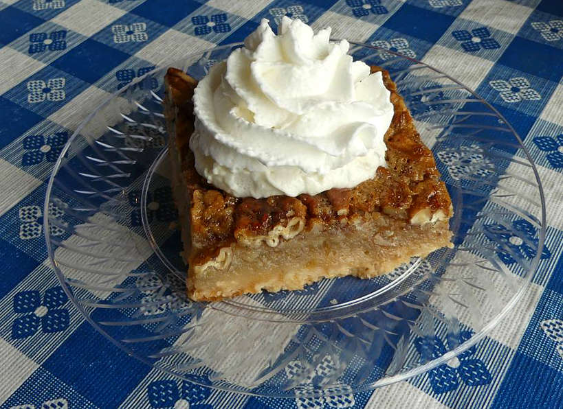 JuliaBelles White Russian Pecan Pie or Best Things to Do in Florence SC on Pecan Trail by Authentic Food Quest. A stop at Julia Belle's is a fun stop on the South Carolina Pecan Trail