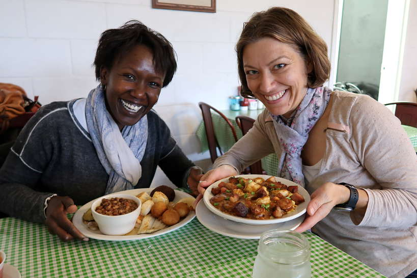 Rosemary and Claire at Tubb's for the Best Things to Do in Florence SC on Pecan Trail by Authentic Food Quest. One of the best local restaurants in Florence SC on the Pecan Trail