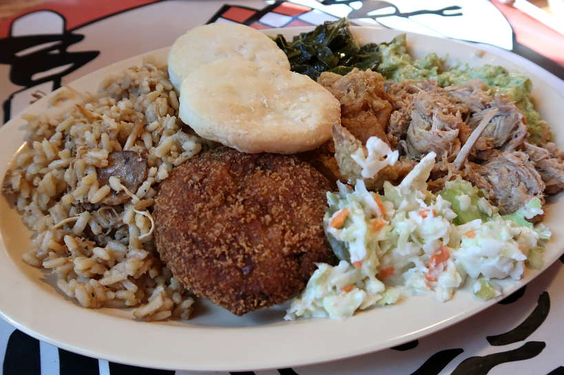 Soul Food Plate at Prosser's BBQ for Best Southern Comfort Foods by Authentic Food Quest. Soul Food Myrtle Beach