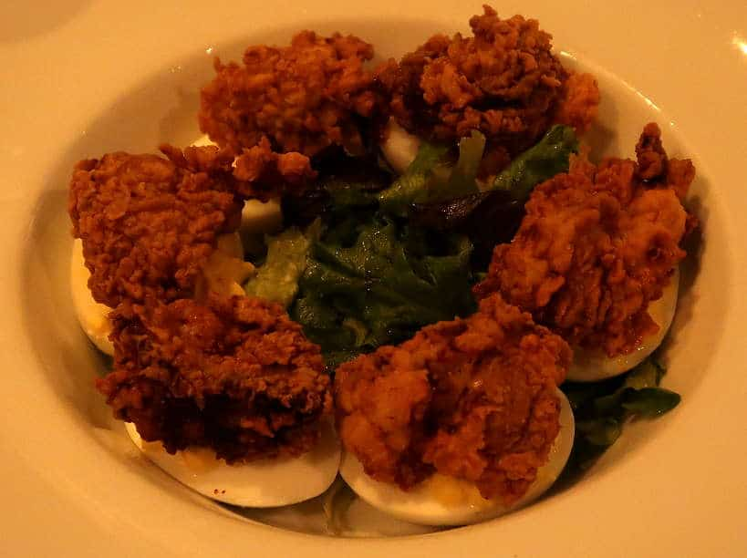 Town Hall delicious Deviled Eggs for Best Restaurant Downtown Florence SC on the Pecan Trail by Authentic Food Quest. If you are looking for fun things to do in Florence SC
