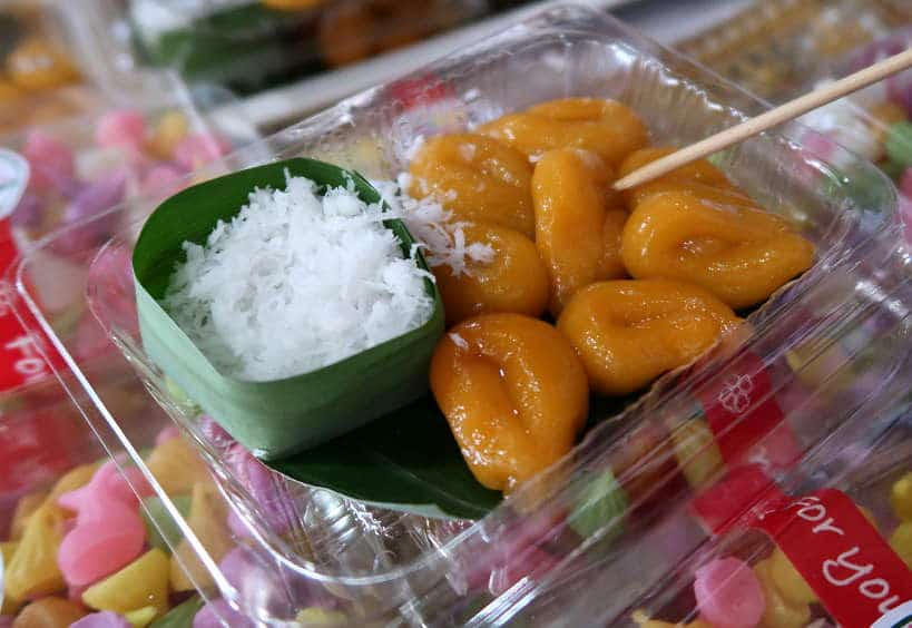 "Thai Fish Egg"" Dessert Kanom Khai Pla on Ayutthaya Day Tour by Authentic Food Quest"