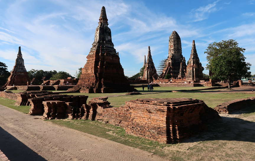 Wat Chaiwatthanaram Khmer Style Tower for Ayutthaya Day Tour by Authentic Food Quest. Visiting the Ayutthaya temples is a great day trip from Bangkok.
