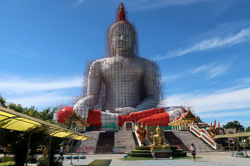 Wat Muang in Ang Thong The Largest sitting Buddha in Thailand on Ayutthaya Day Tour by Authentic Food Quest. So many incredible temples to visit on your Ayutthaya day trip