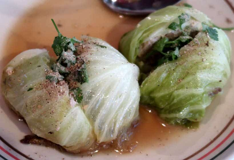 Au Kalampii a Cabbage Stuffed with Pork Laos Food by Authentic Food Quest