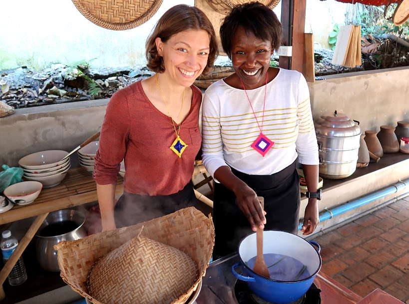 Claire and Rosemary for Cooking Class in Luang Prabang by Authentic Food Quest
