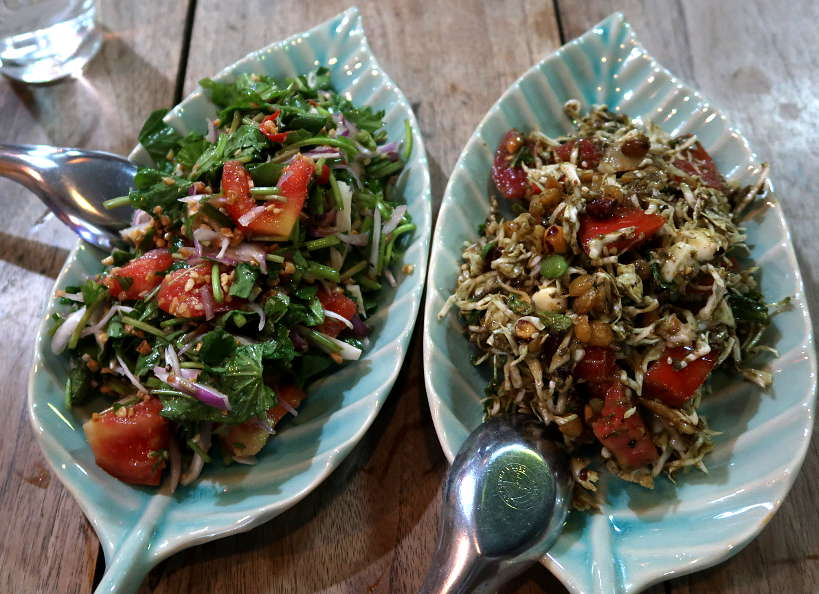 Pennywort and Tea Leaf Salad Burmese Cuisine for A Chefs Tour by Authentic Food Quest