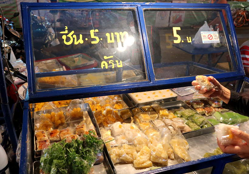 Thai Dessert vendor at Warorot Market Chiang Mai Street Food Authentic Food Quest