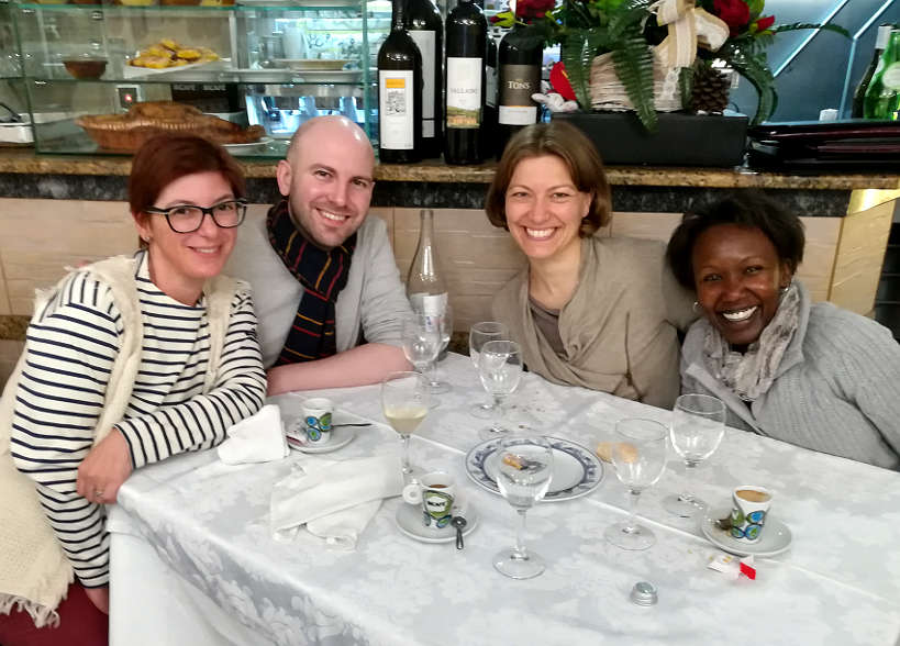 Claire and Rosemary at Casa Nanda with Friends to taste the best Food in Porto Authentic Food Quest