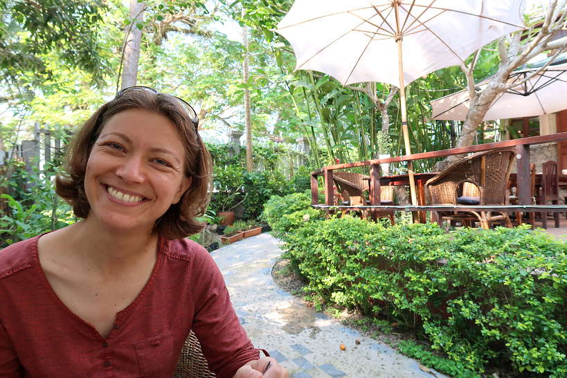 Claire at Big Tree Cafe and Gallery for Best Restaurant In Luang Prabang by Authentic Food Quest