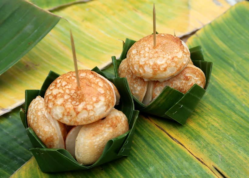 Coconut Rice Pancake or Khanom Nom Kok for Laos Desserts by Authentic Food Quest