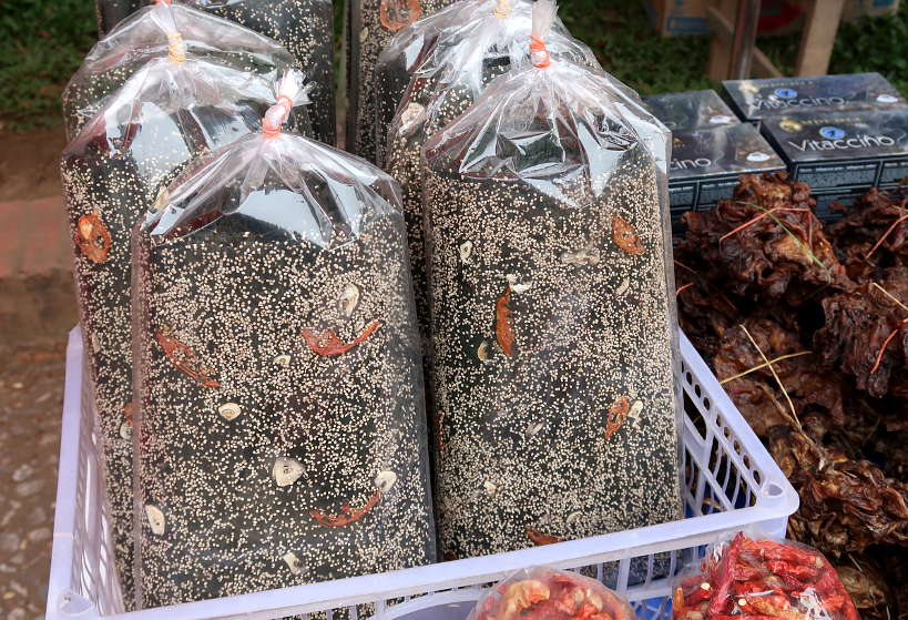 Mekong Seaweed at Morning Market for Food in Luang Prabang by Authentic Food Quest