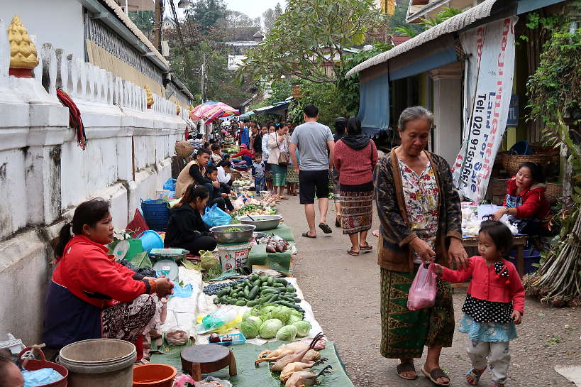 Morning Market for food in Luang Prabang by Authentic Food Quest
