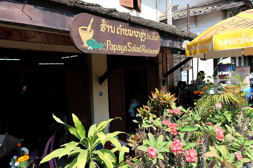 Papaya Salad Restaurant _Food in Luang Prabang by Authentic Food Quest