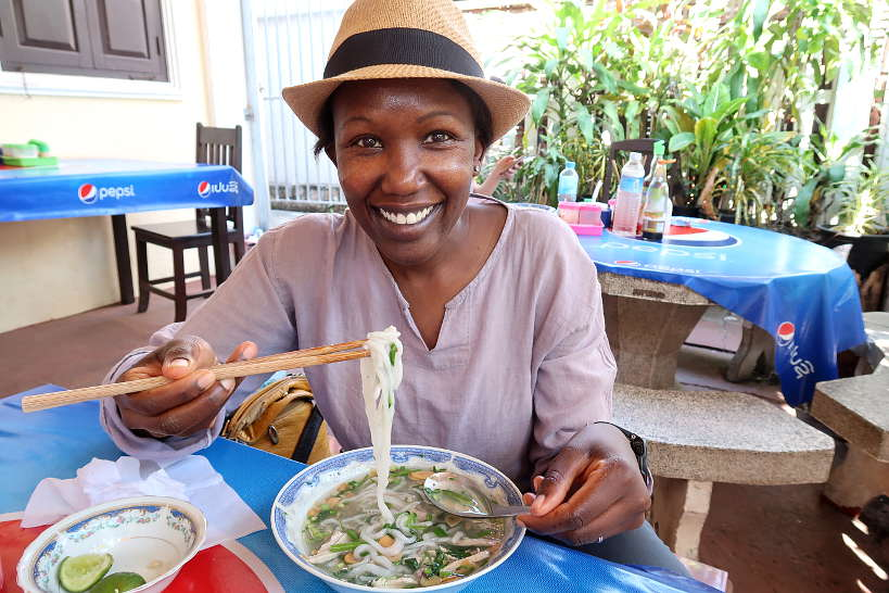 Rosemary at Xieng Thong Noodle Soup for Best Restaurant in Luang Prabang by Authentic Food Quest