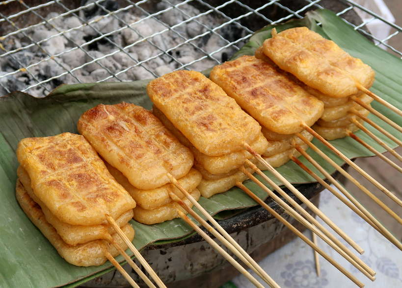 Sticky Rice Skewers for Laos Food by Authentic Food Quest