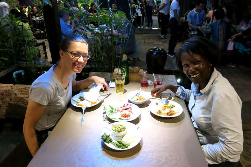 Claire and Rosemary at Tong Tem Toh_A Chiang Mai Thai Restaurant by Authentic Food Quest