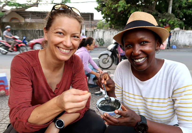 Claire and Rosemary in Hoi An by Authentic Food Quest and I Travel Because