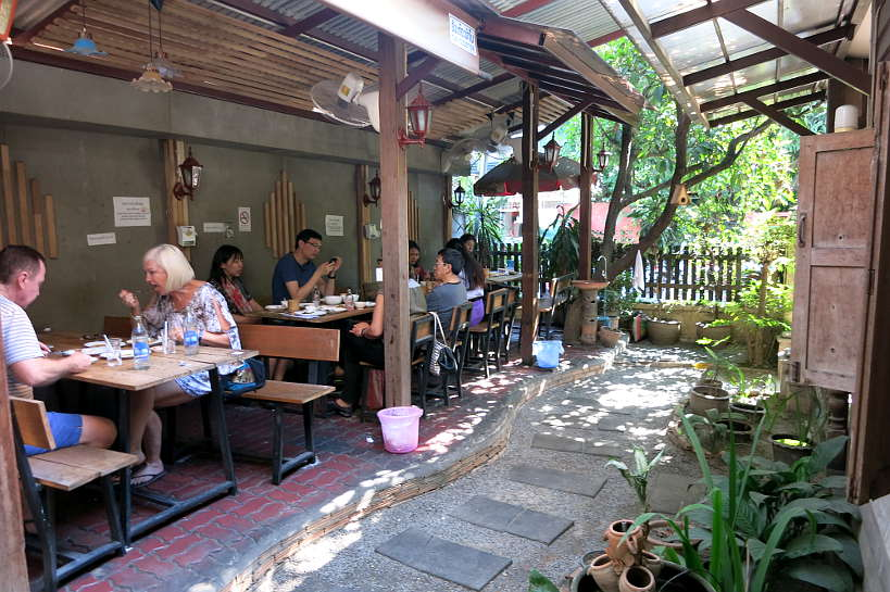 Outdoor seating at Cherng Doi one of the Best restaurants in Chiang Mai by Authentic Food Quest