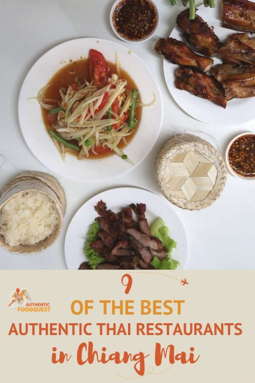 Pinterest Best of Chiang Mai Restaurants by Authentic Food Quest