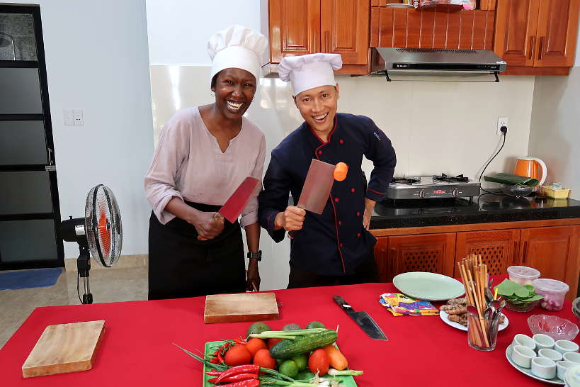 Rosemary and Chef Danny for Cooking Class Hoi An by Authentic Food Quest