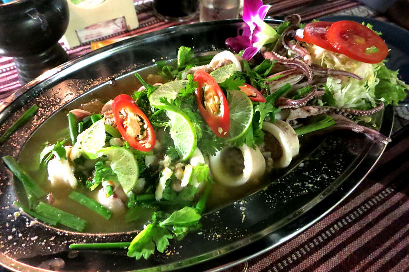 Squid Salad at Paak Dang_A Chiang Mai Thai Restaurant by Authentic Food Quest