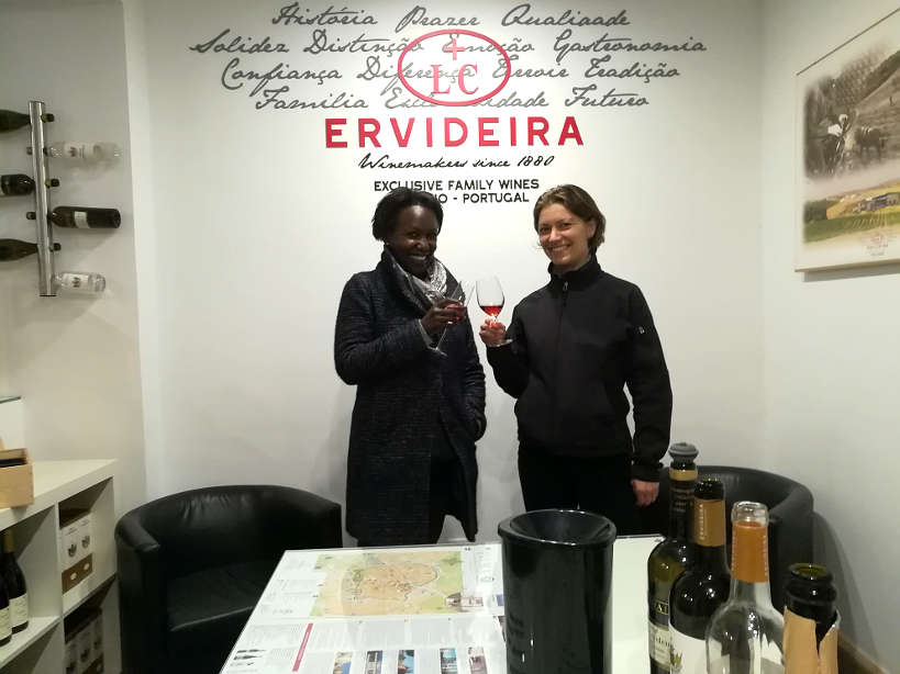 Rosemary and Claire wine tasting at Ervideira for Alentejo Food in Evora by Authentic Food Quest