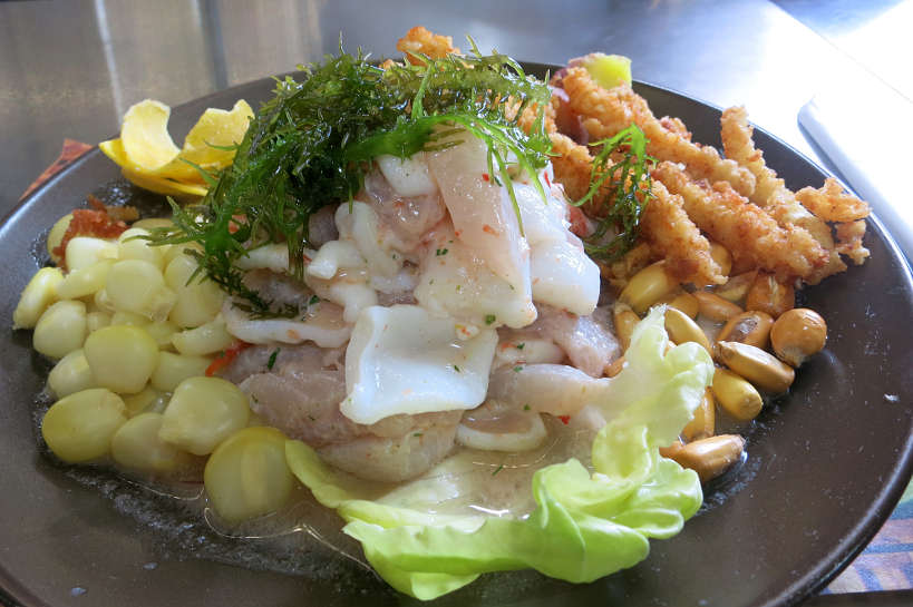 Ceviche in Peru one of the best South American foods