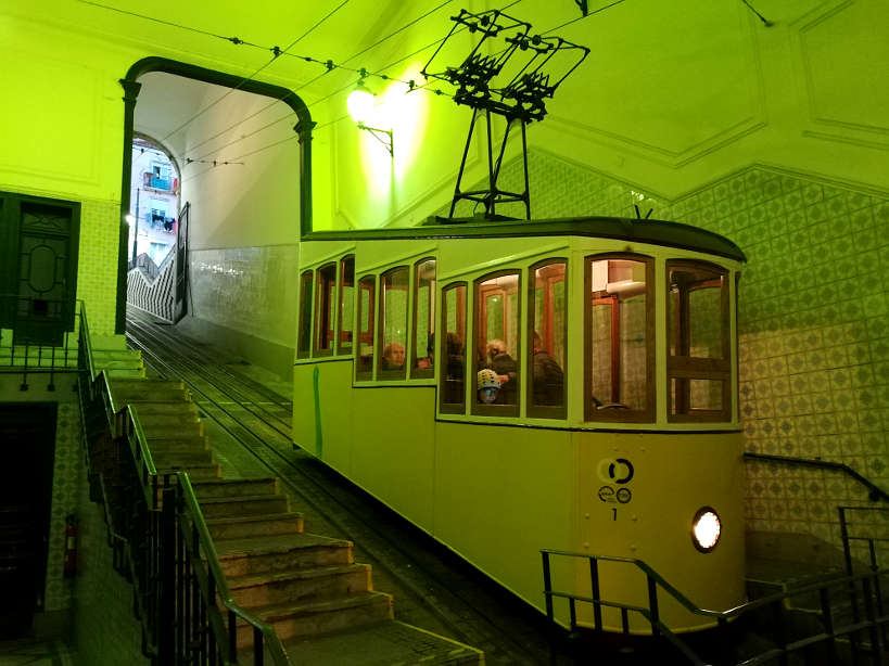Ascensor da Bica in Lisbon that leads to Bairro Alto by Authentic Food Quest