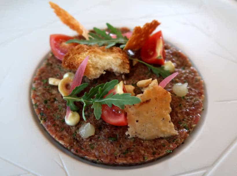 Bulgarian Lamb Tartare at the best Melnik Restaurant by Authentic Food Quest