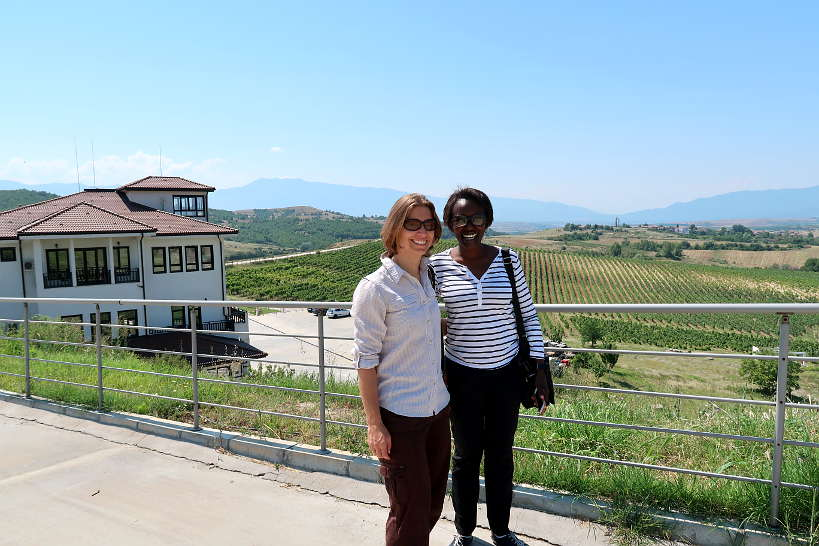 Claire and Rosemary at Villa Melnik by Authentic Food Quest