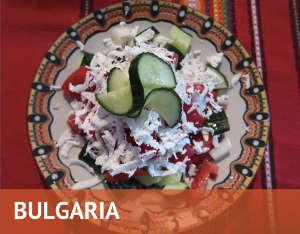 Shopska salad in bulgaria