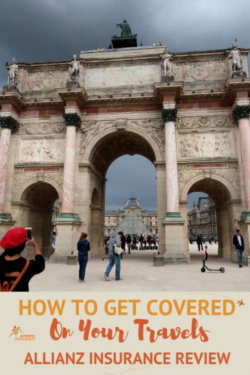 Pinterest Allianz Travel Insurance by Authentic Food Quest