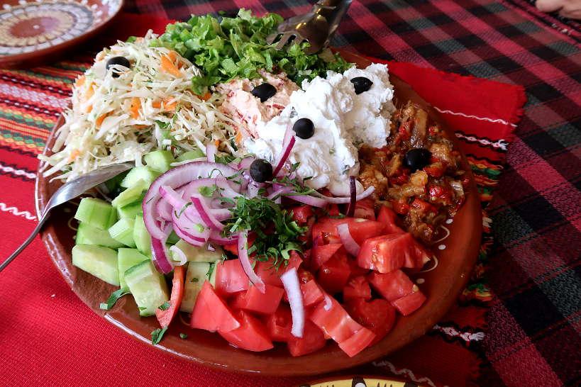 Salad Platter Melnik Bulgaria by Authentic Food Quest