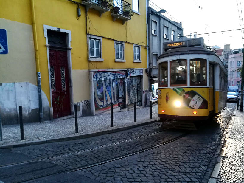 Tram 28 in Graca Lisbon Authentic Food Quest