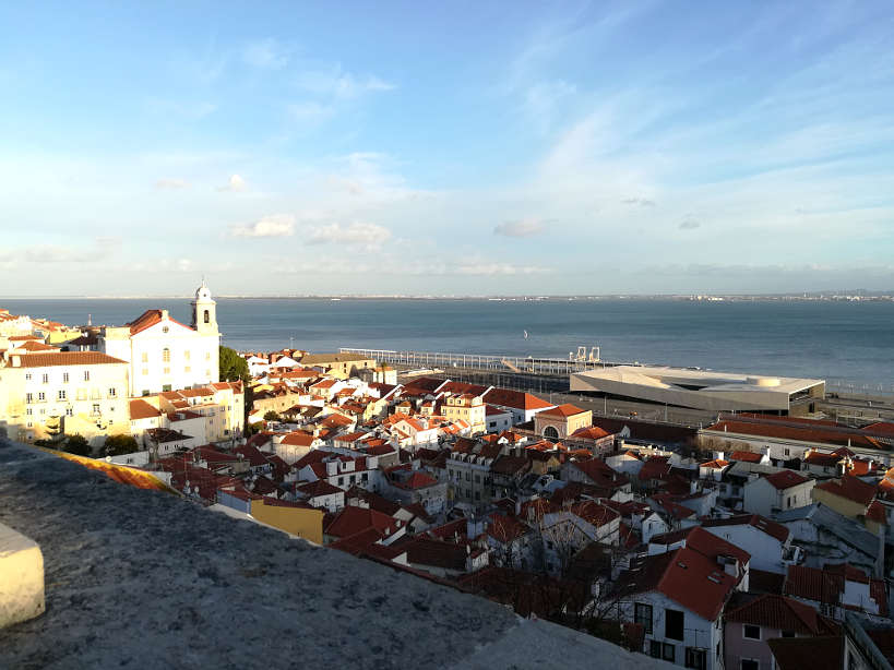 View of Lisbon from Graca one of the best areas where to stay in Lisbon Authentic Food Quest