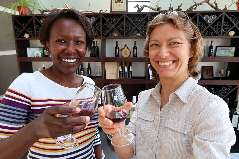 Rosemary and Claire at Orbelus Winery for Melnik Wine Bulgaria by Authentic Food Quest