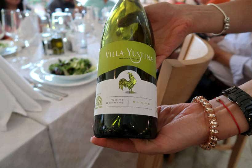 Villa Yustina White Thracian Valley Wine Bulgaria by Authentic Food Quest.