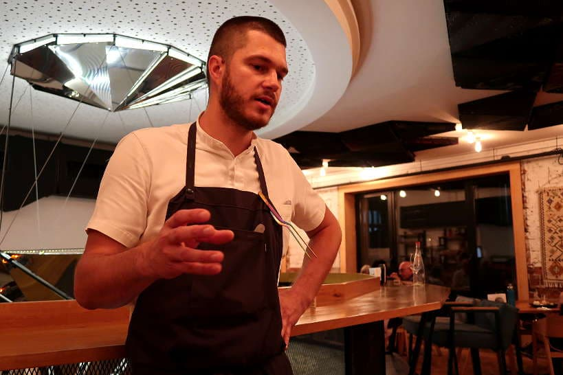 Chef Pevov at Cosmos one of the best Restaurant in Sofia by Authentic Food Quest