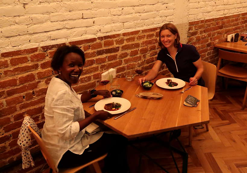 Rosemary and Claire at Cosmos Restaurant Sofia by Authentic Food Quest