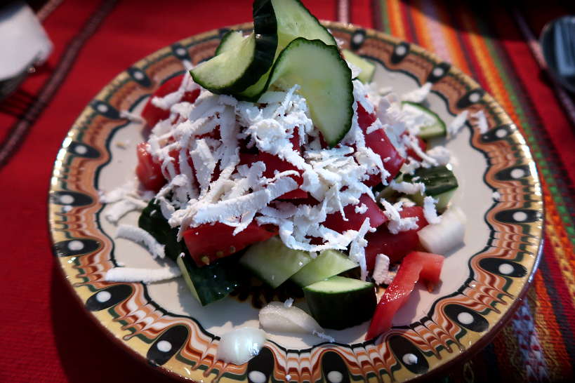 Shopska Salad at Restaurants in Bulgaria Authenticfoodquest.com