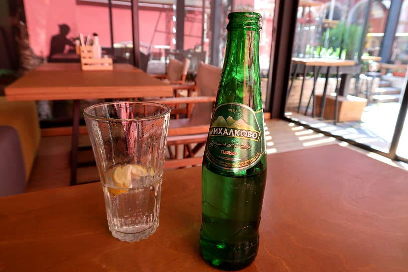 Sparkling Mineral Water at a Bulgarian Restaurant AuthenticFoodQuest