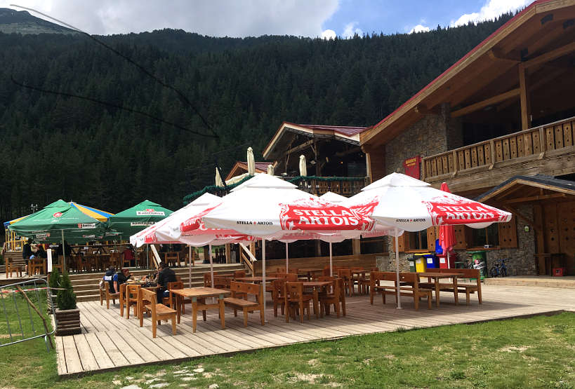 Outdoor Seating at Bansko Restaurants Bulgaria by AuthenticFoodQuest