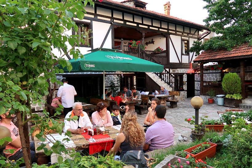 Outdoor courtyard TavernVoivodata_BanskoRestaurants_AuthenticFoodQuest