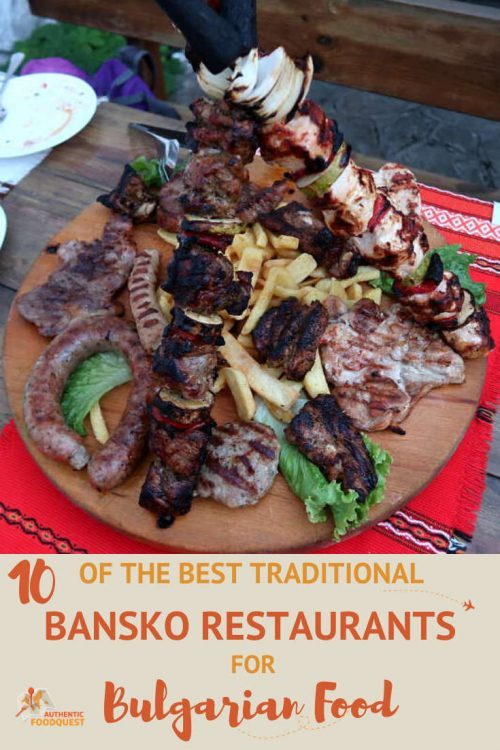 Pinterest im age of 10 Best Bansko Restaurants in Bulgaria by AuthenticFoodQuest
