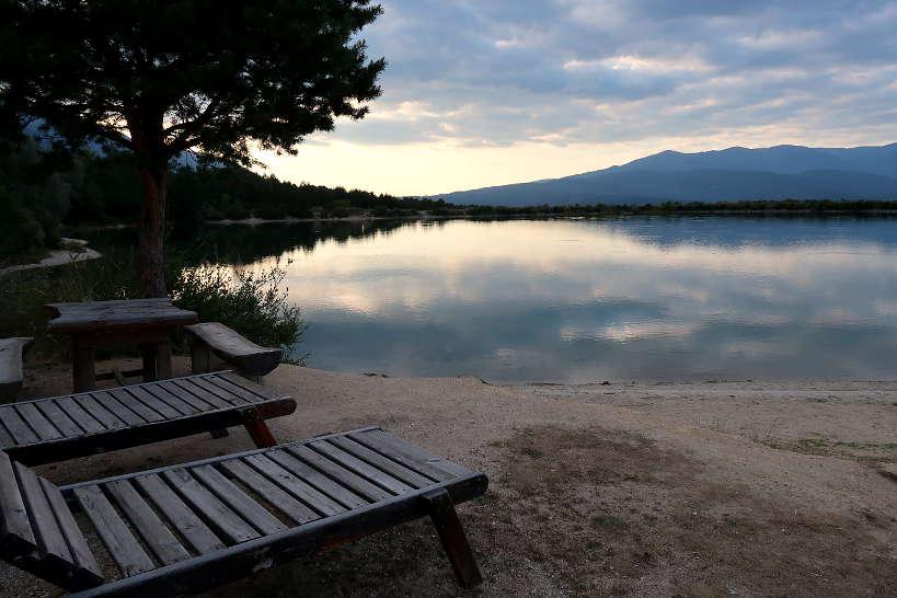 Sunset at Belizmata Dam Restaurant in Bansko Bulgaria AuthenticFoodQuest