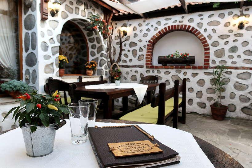 Veziova House Patio Bansko Restaurants Bulgaria Authentic Food Quest