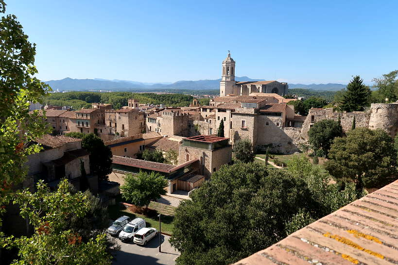 View the city from Girona Medieval City Walls by Authentic Food Quest