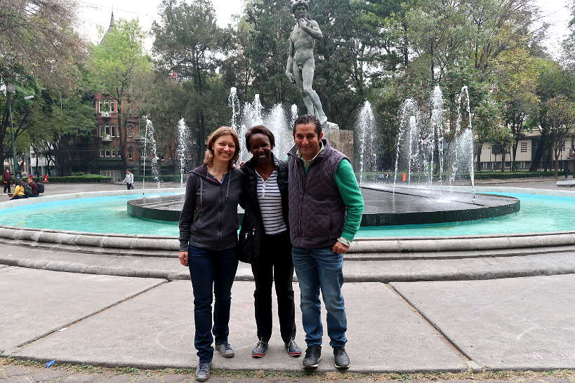 Claire and Rosemary with Eduardo from Secret Food Tours Mexico City by AuthenticFoodQuest
